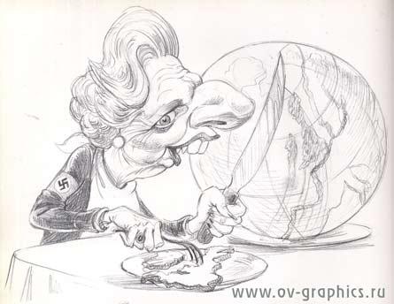 Карикатура на Маргарет Тетчер